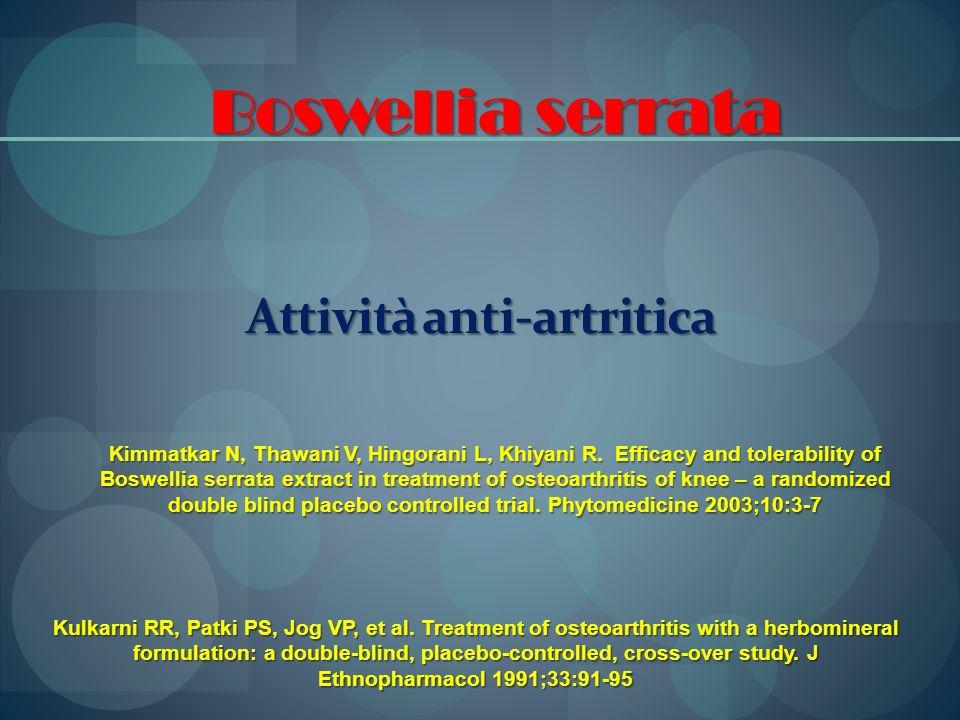 Attività anti-artritica