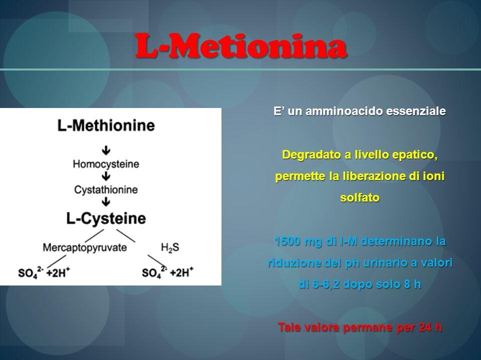 L-Metionina E' un amminoacido essenziale