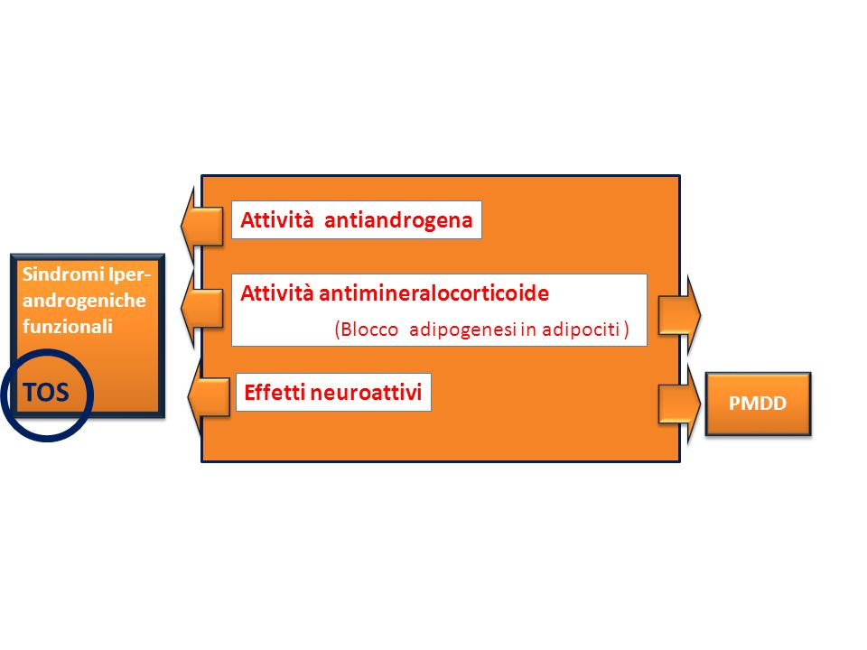 TOS Attività antiandrogena Attività antimineralocorticoide
