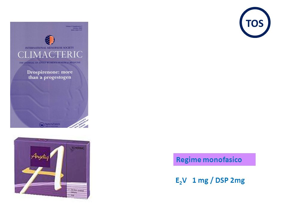 TOS Regime monofasico E2V 1 mg / DSP 2mg