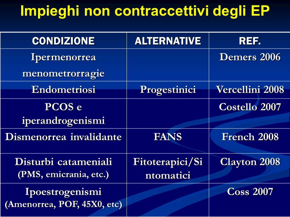 Impieghi non contraccettivi degli EP