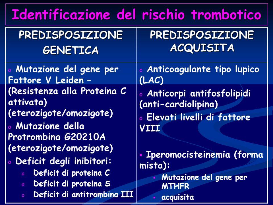 Identificazione del rischio trombotico