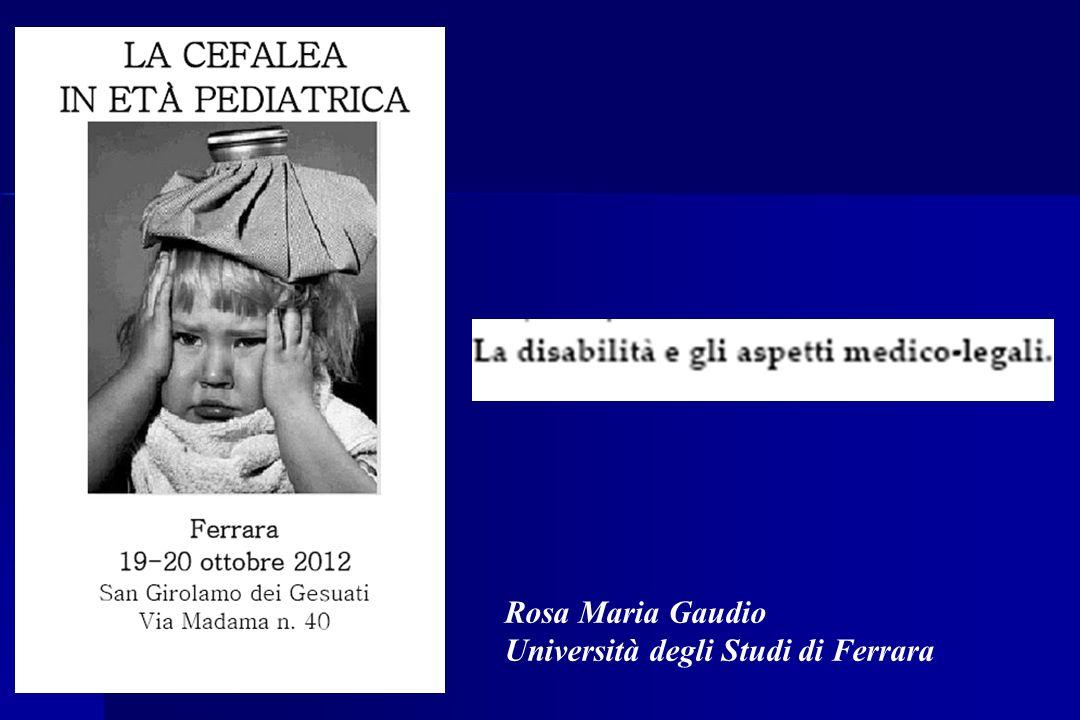 Rosa Maria Gaudio Università degli Studi di Ferrara