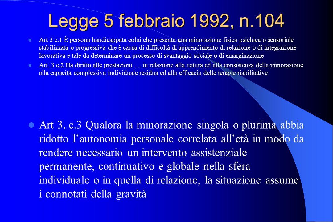 Legge 5 febbraio 1992, n.104