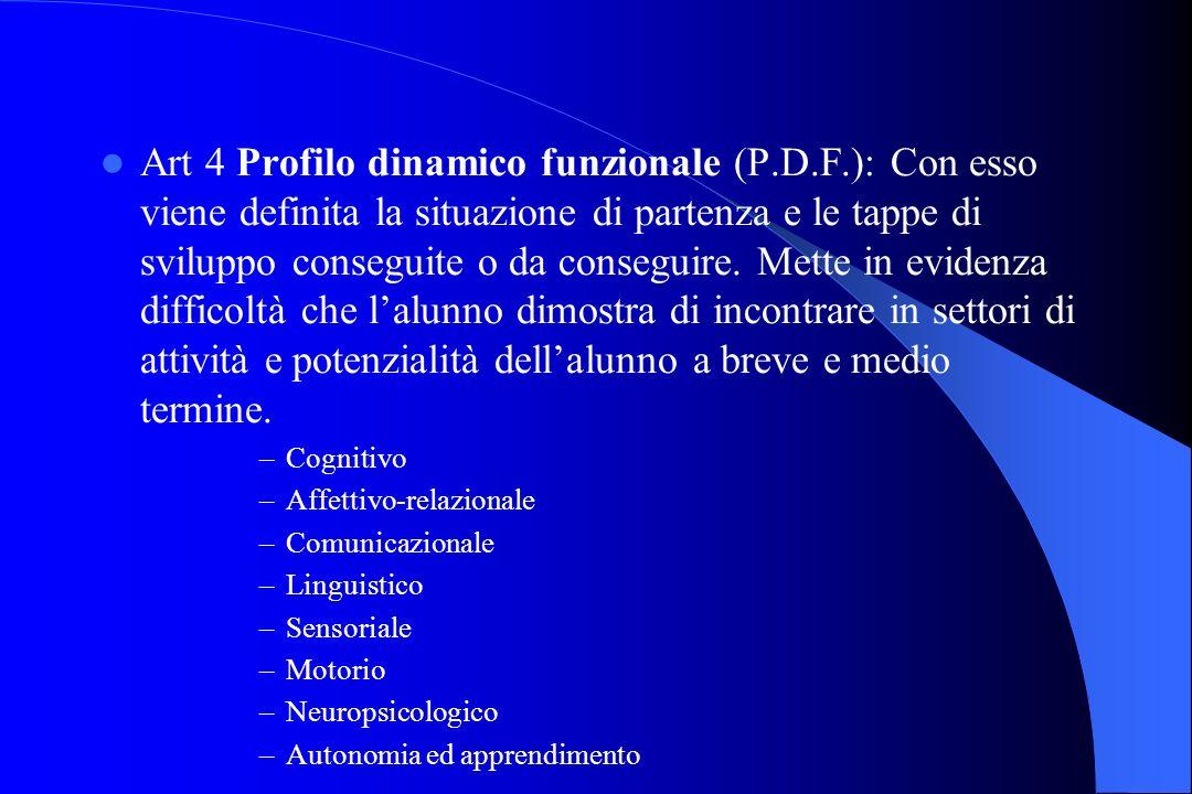Art 4 Profilo dinamico funzionale (P. D. F