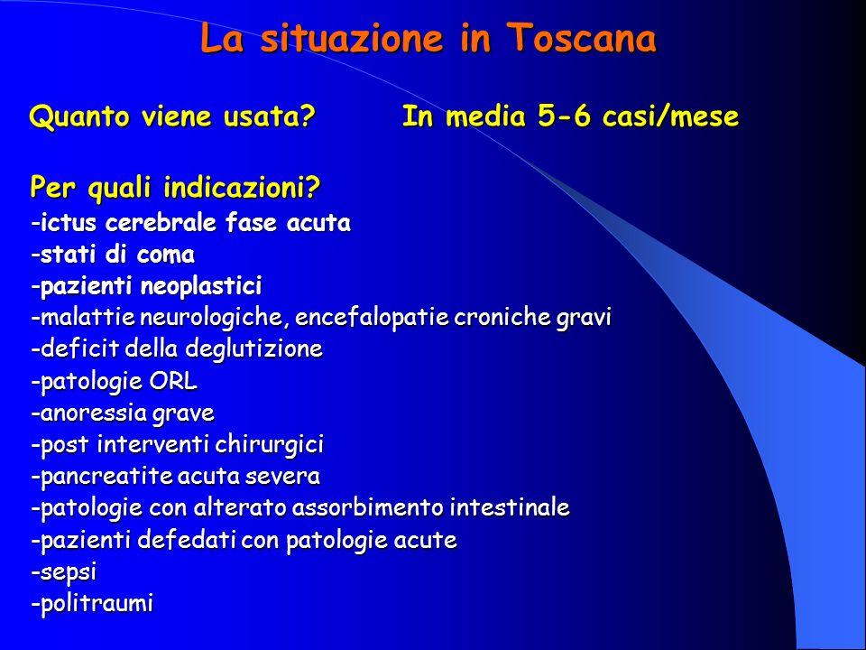 La situazione in Toscana