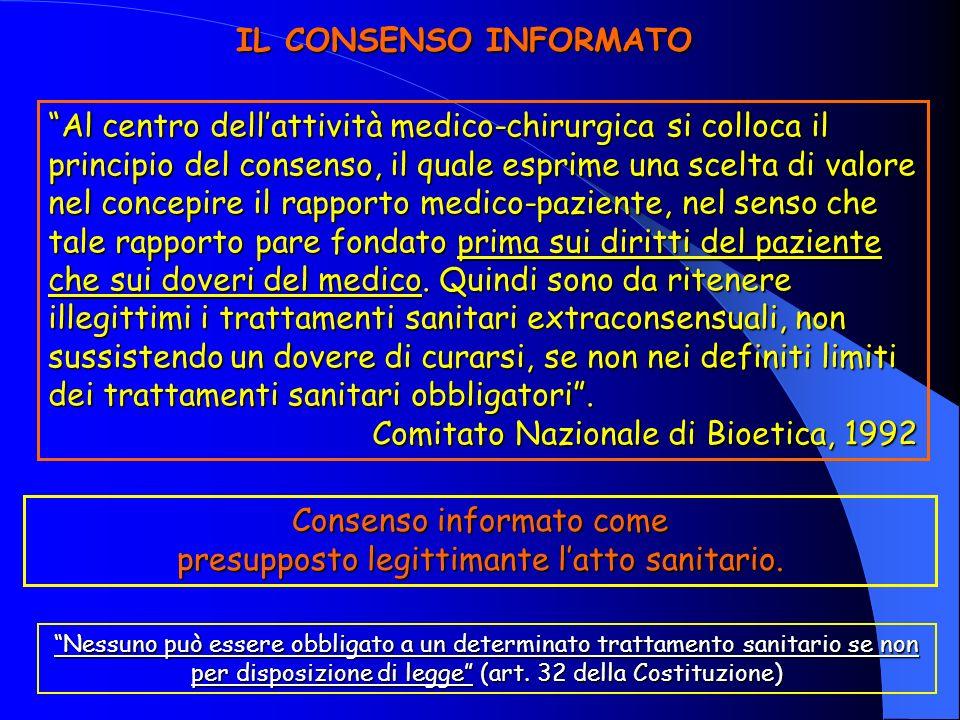 Comitato Nazionale di Bioetica, 1992