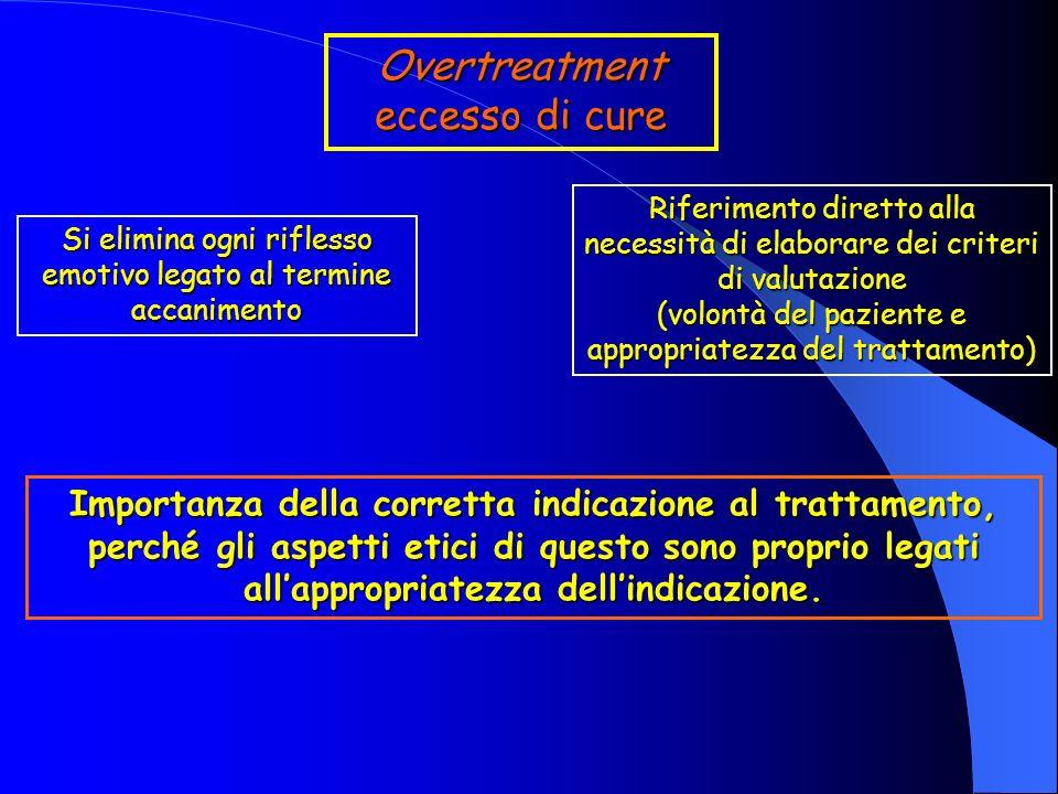 Overtreatment eccesso di cure