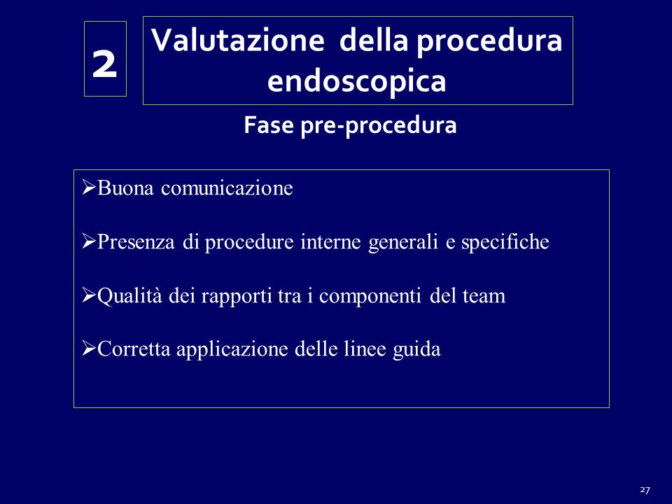 Valutazione della procedura