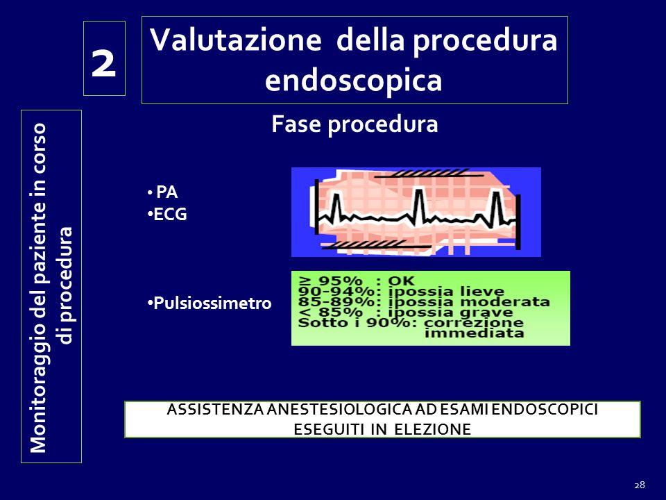 2 Valutazione della procedura endoscopica Fase procedura