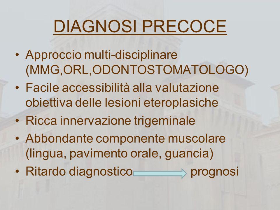 DIAGNOSI PRECOCE Approccio multi-disciplinare (MMG,ORL,ODONTOSTOMATOLOGO)