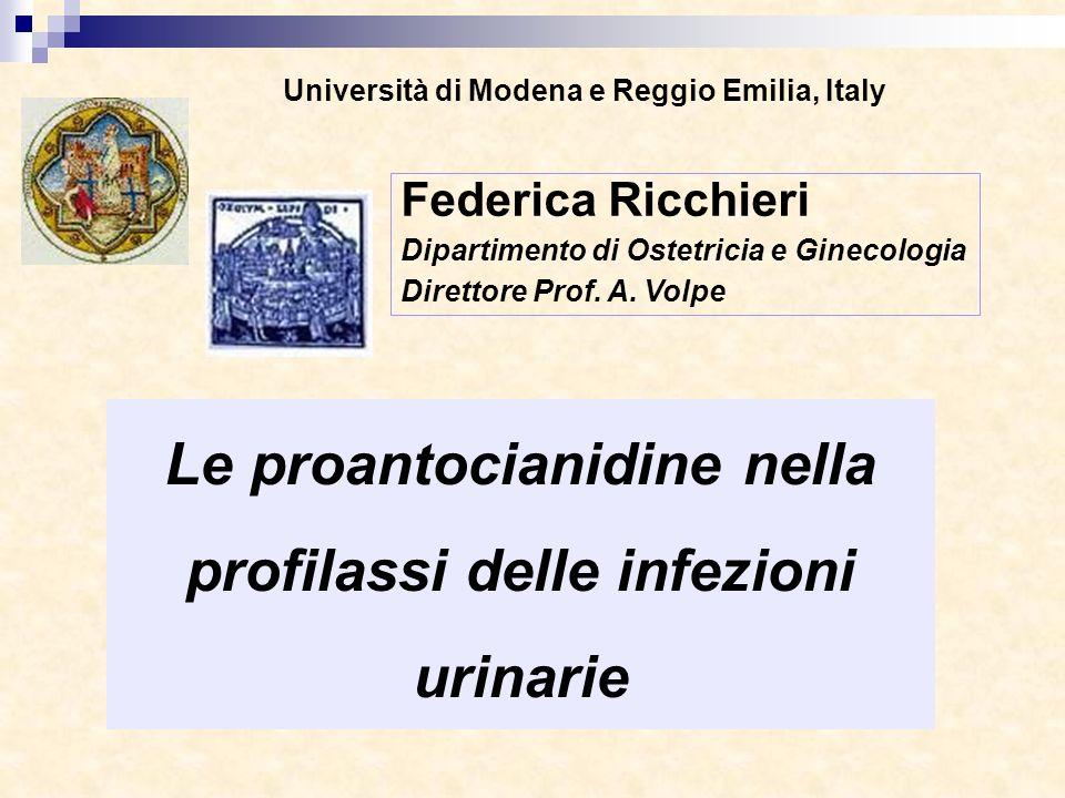 Le proantocianidine nella profilassi delle infezioni urinarie