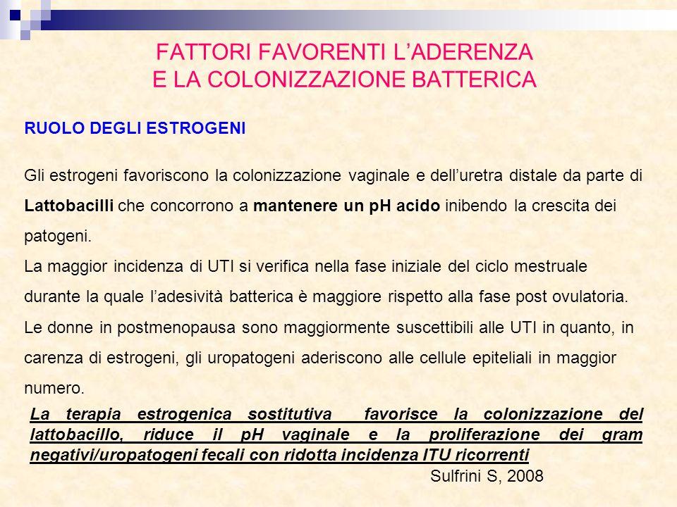 FATTORI FAVORENTI L'ADERENZA E LA COLONIZZAZIONE BATTERICA