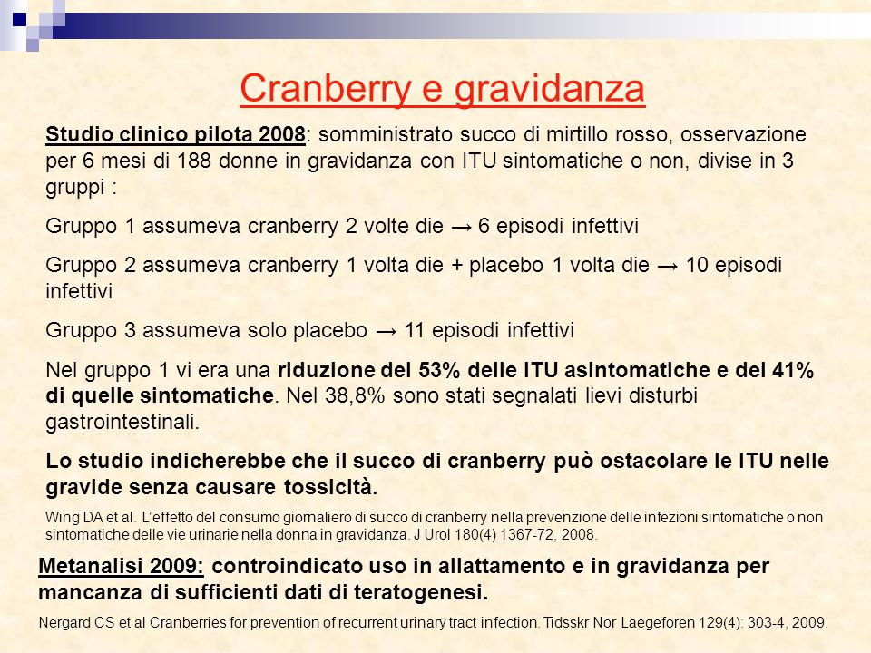 Cranberry e gravidanza