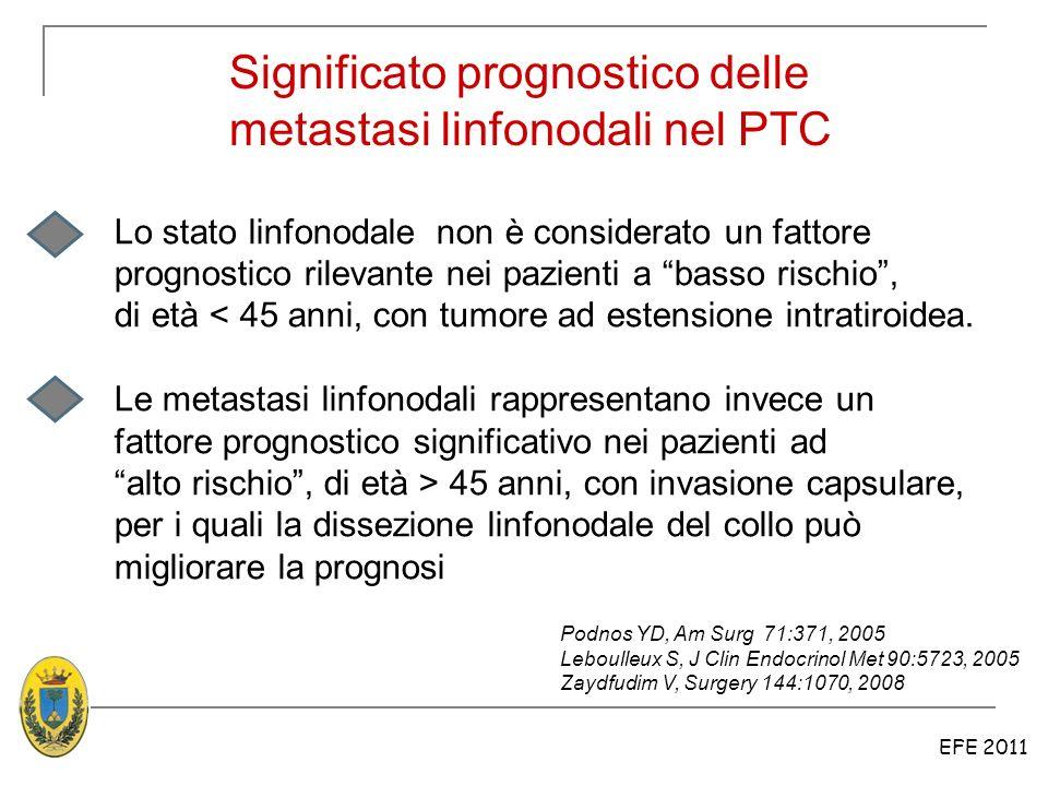 Significato prognostico delle metastasi linfonodali nel PTC