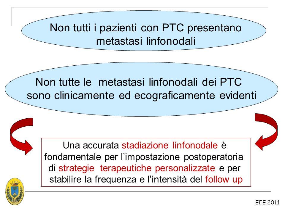 Non tutti i pazienti con PTC presentano metastasi linfonodali