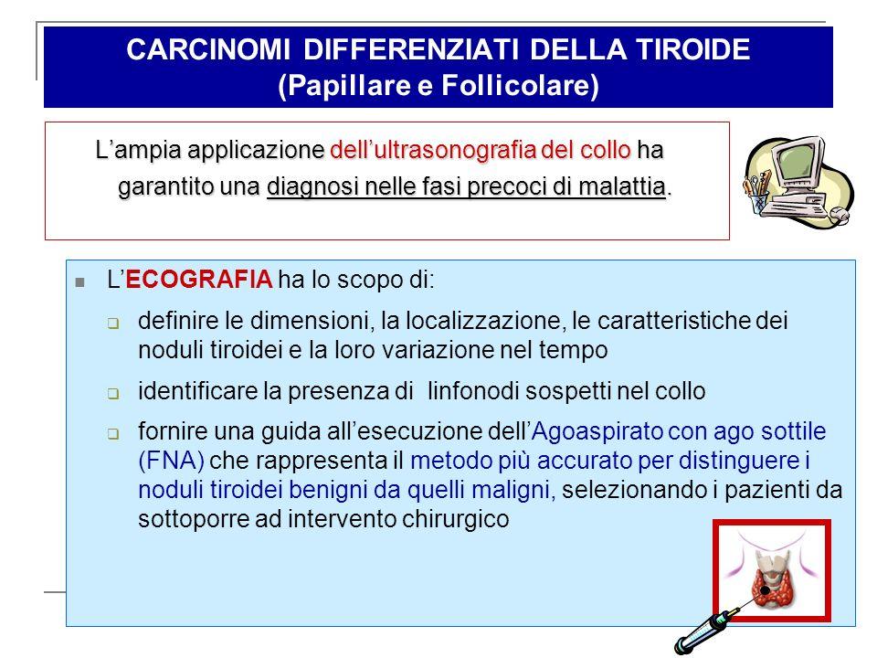 CARCINOMI DIFFERENZIATI DELLA TIROIDE (Papillare e Follicolare)