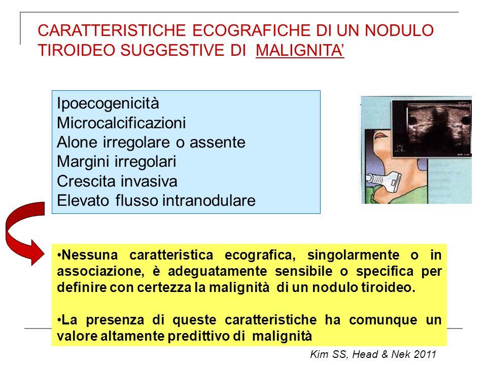 CARATTERISTICHE ECOGRAFICHE DI UN NODULO