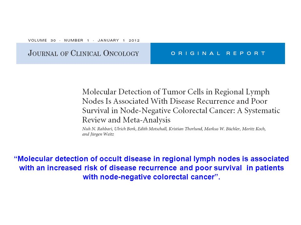 with node-negative colorectal cancer .