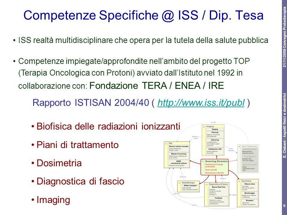 Competenze Specifiche @ ISS / Dip. Tesa