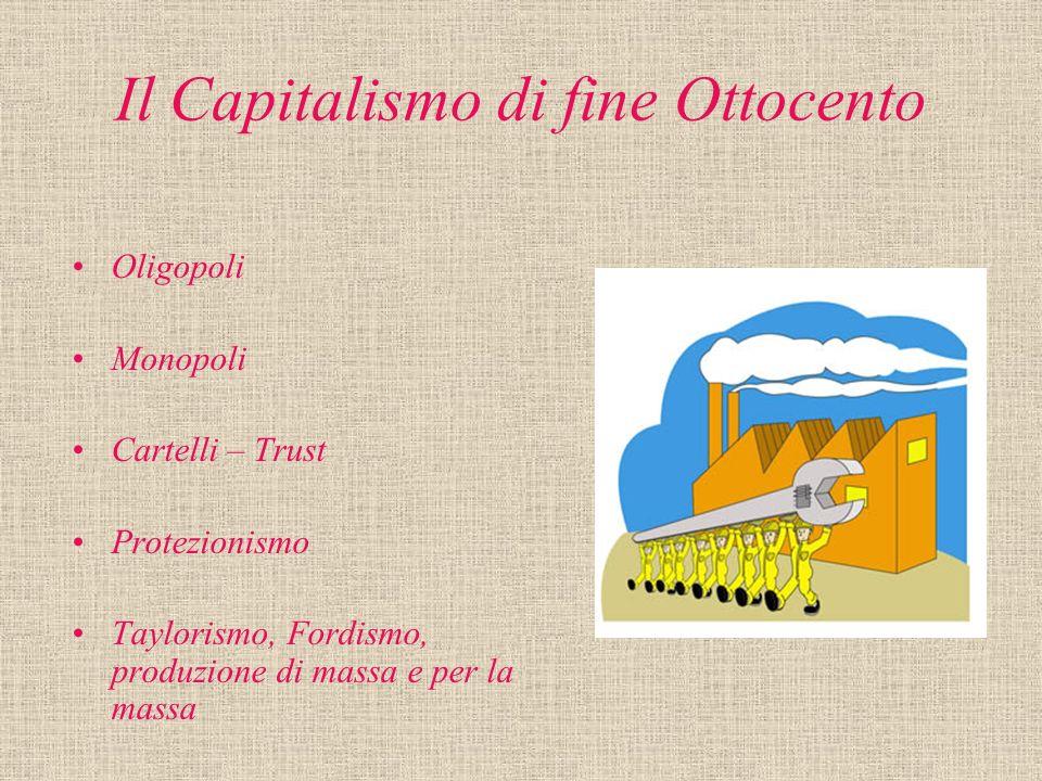 Il Capitalismo di fine Ottocento