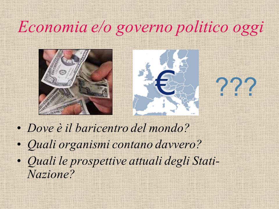 Economia e/o governo politico oggi