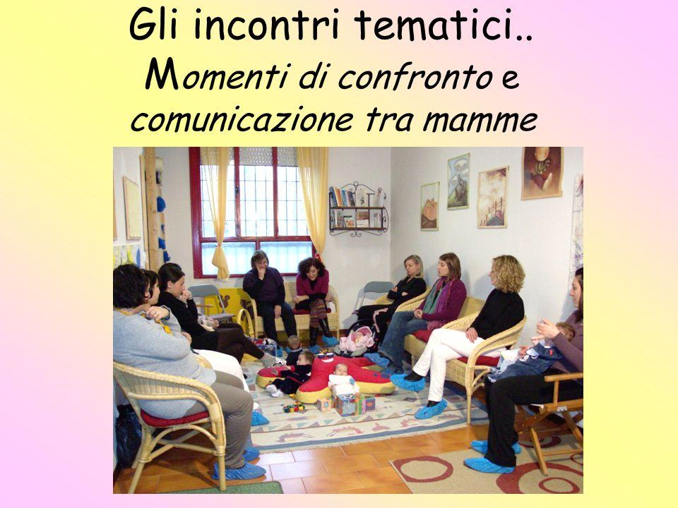 Gli incontri tematici.. Momenti di confronto e comunicazione tra mamme