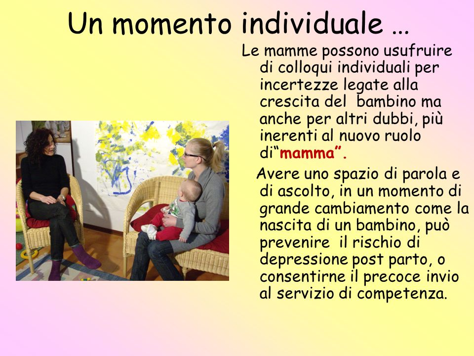 Un momento individuale …