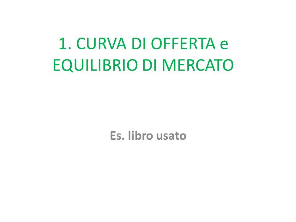 1. CURVA DI OFFERTA e EQUILIBRIO DI MERCATO