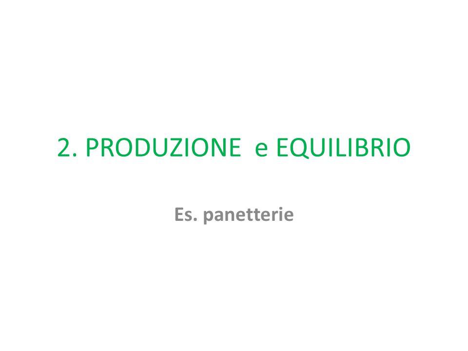 2. PRODUZIONE e EQUILIBRIO