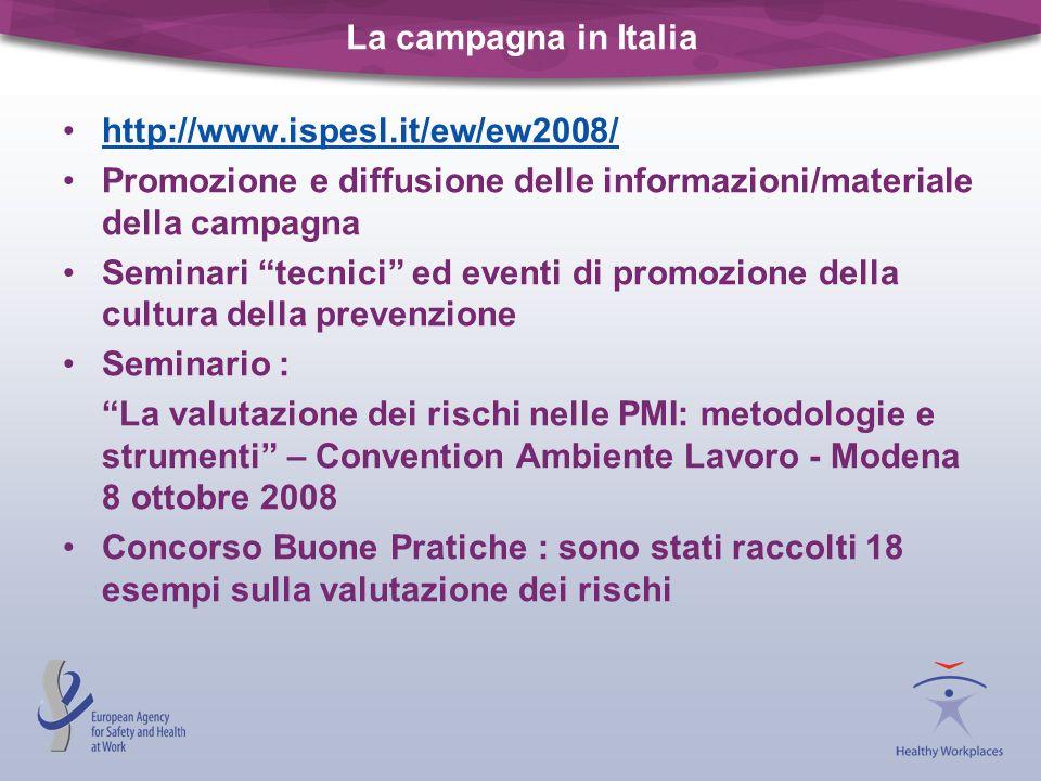La campagna in Italiahttp://www.ispesl.it/ew/ew2008/ Promozione e diffusione delle informazioni/materiale della campagna.