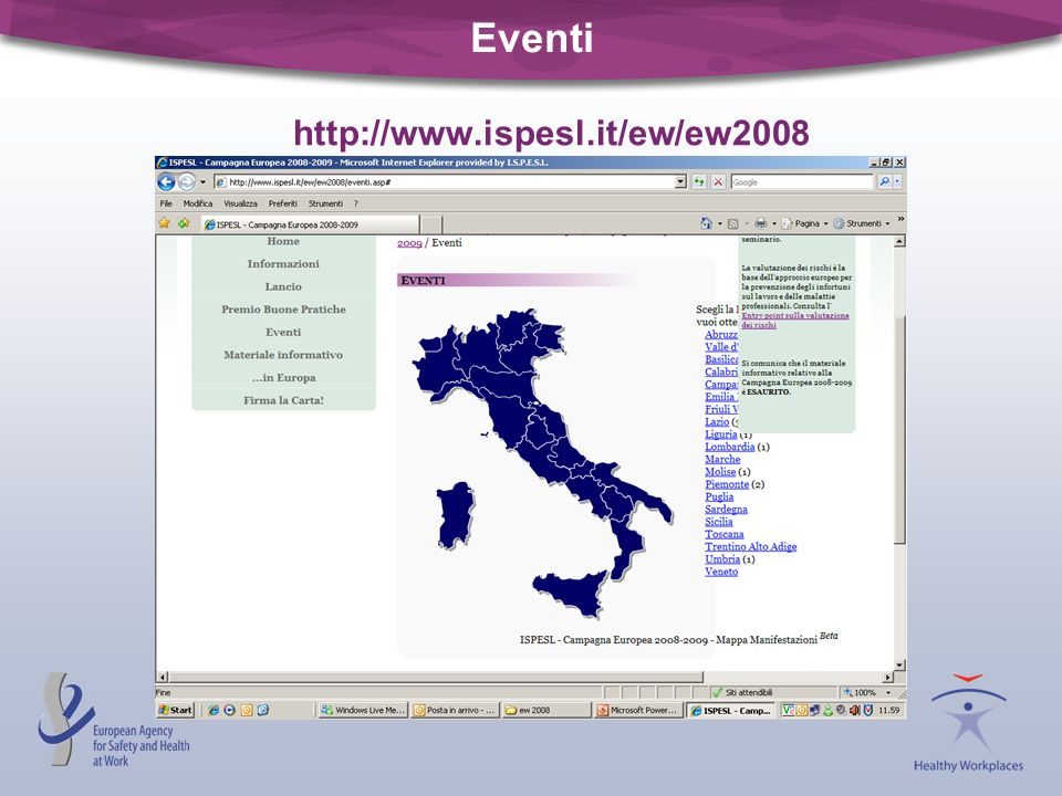 Eventi http://www.ispesl.it/ew/ew2008