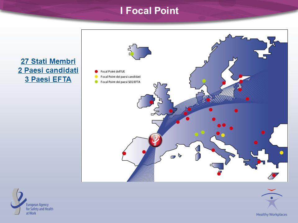 I Focal Point 27 Stati Membri 2 Paesi candidati 3 Paesi EFTA