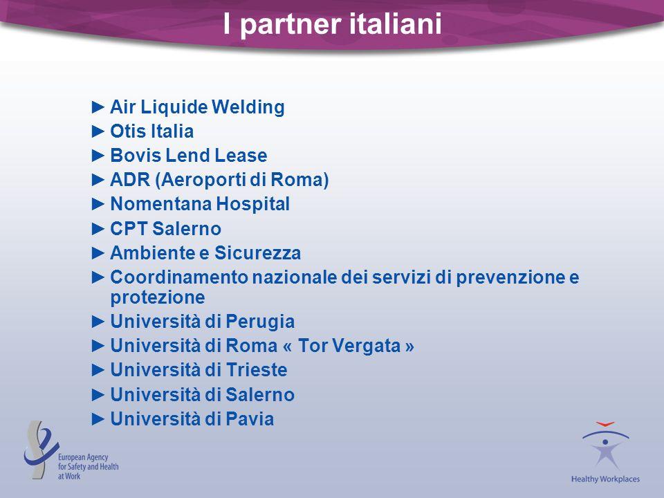 I partner italiani Air Liquide Welding Otis Italia Bovis Lend Lease