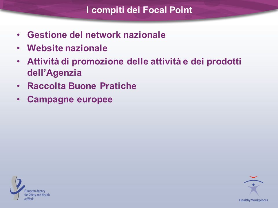I compiti dei Focal Point