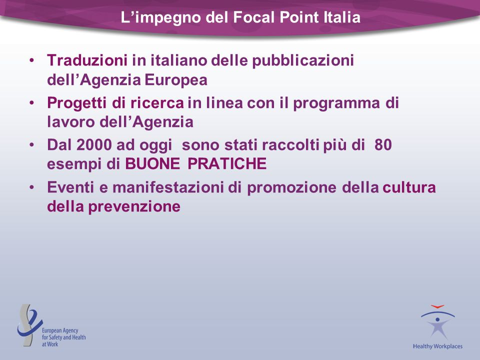 L'impegno del Focal Point Italia