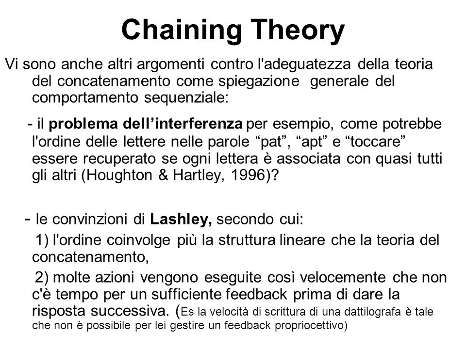 Chaining Theory
