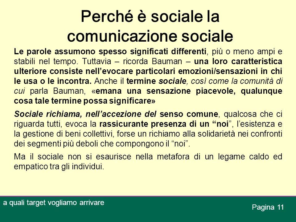 Perché è sociale la comunicazione sociale