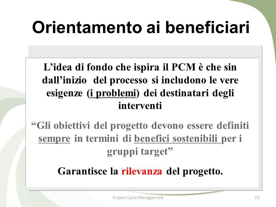 Orientamento ai beneficiari
