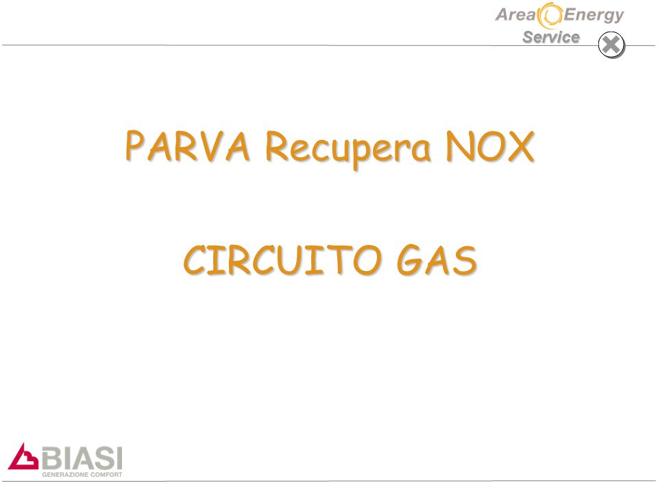 PARVA Recupera NOX CIRCUITO GAS