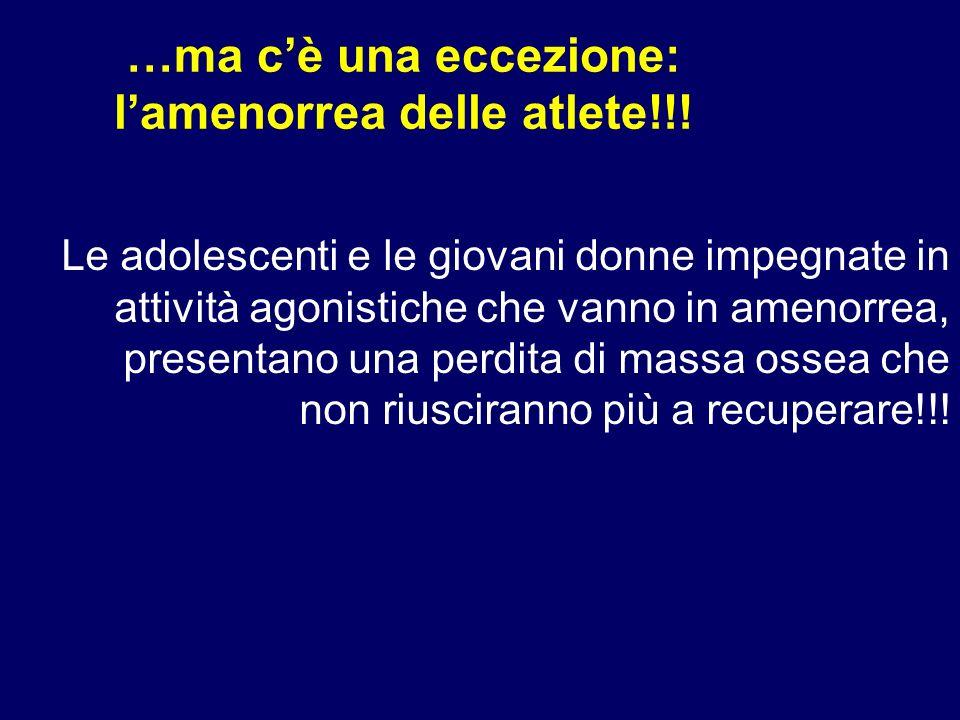 …ma c'è una eccezione: l'amenorrea delle atlete!!!