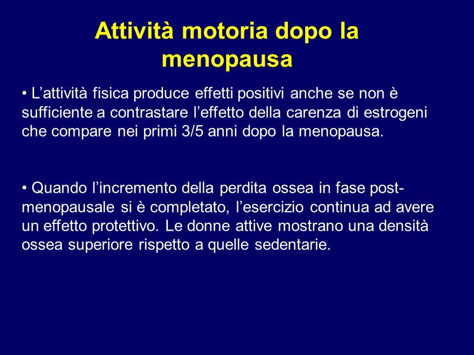 Attività motoria dopo la menopausa