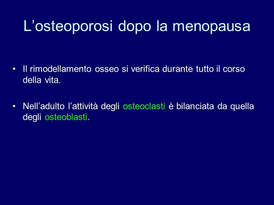 L'osteoporosi dopo la menopausa
