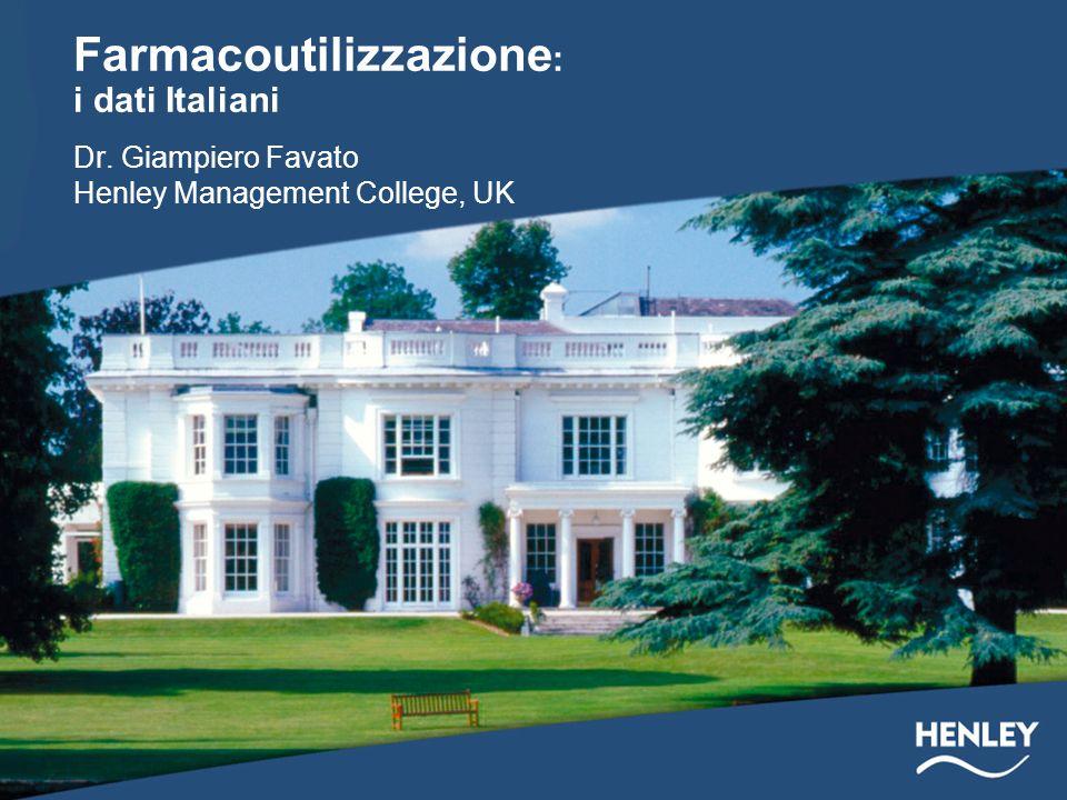 Farmacoutilizzazione: i dati Italiani