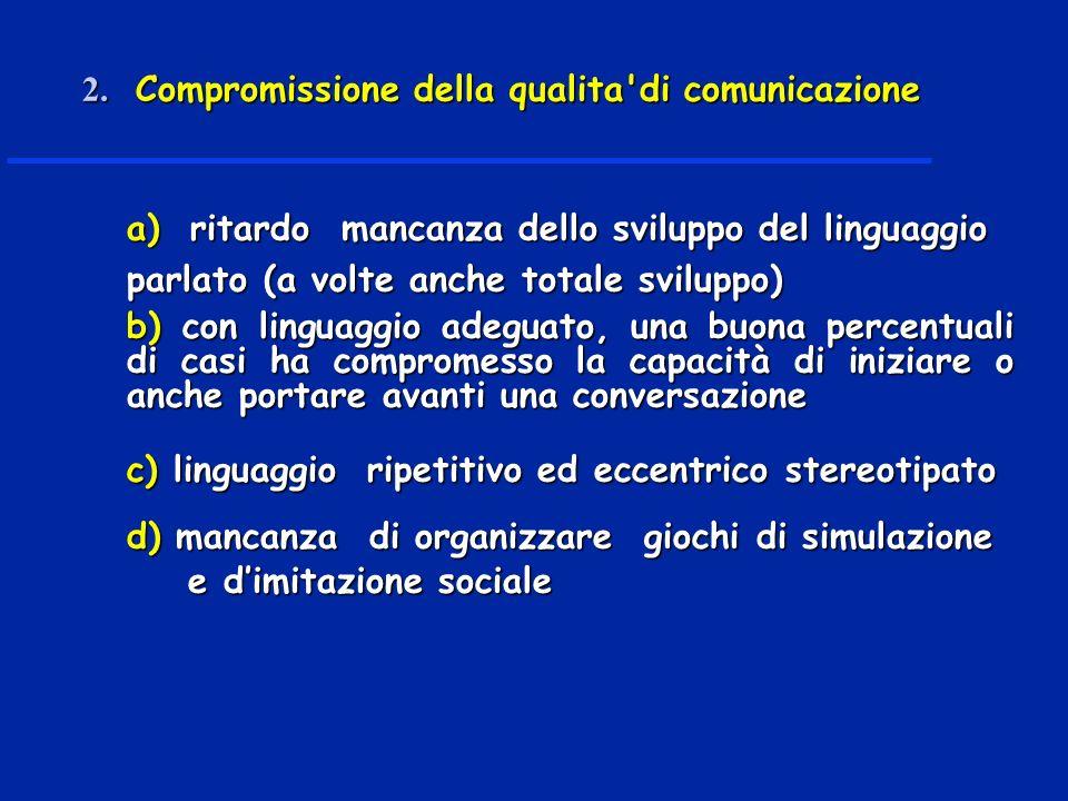 2. Compromissione della qualita di comunicazione