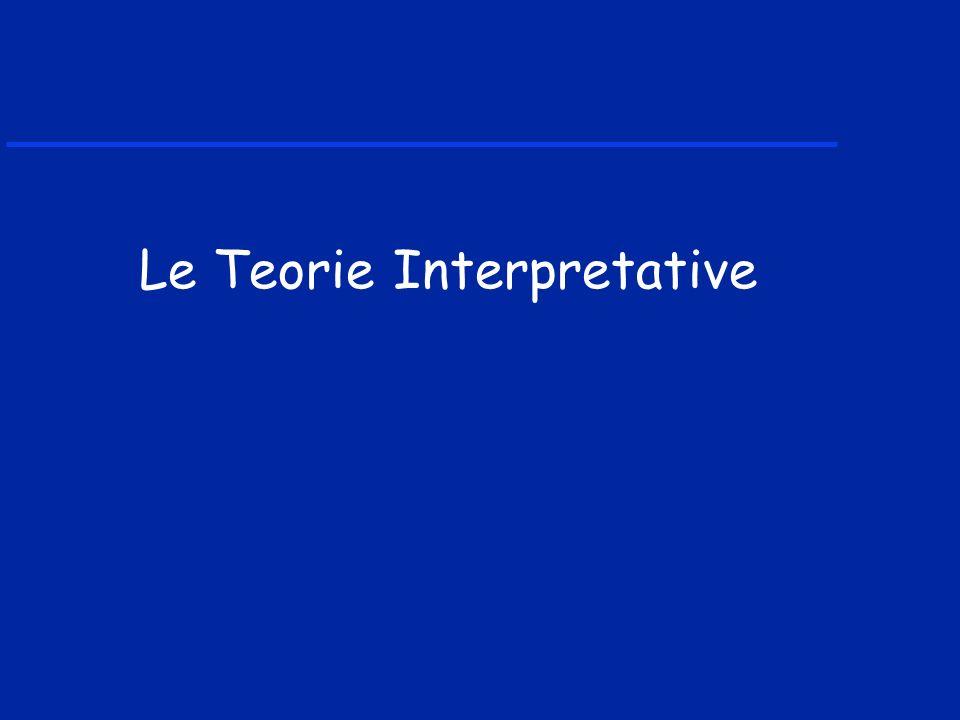 Le Teorie Interpretative