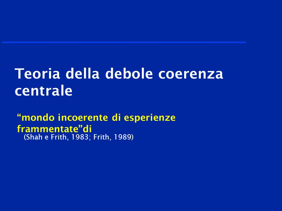 Teoria della debole coerenza centrale