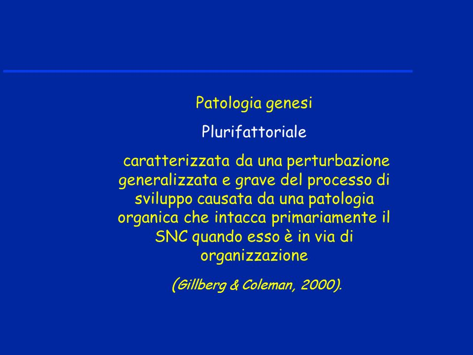 Patologia genesi Plurifattoriale.
