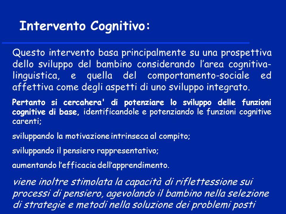 Intervento Cognitivo: