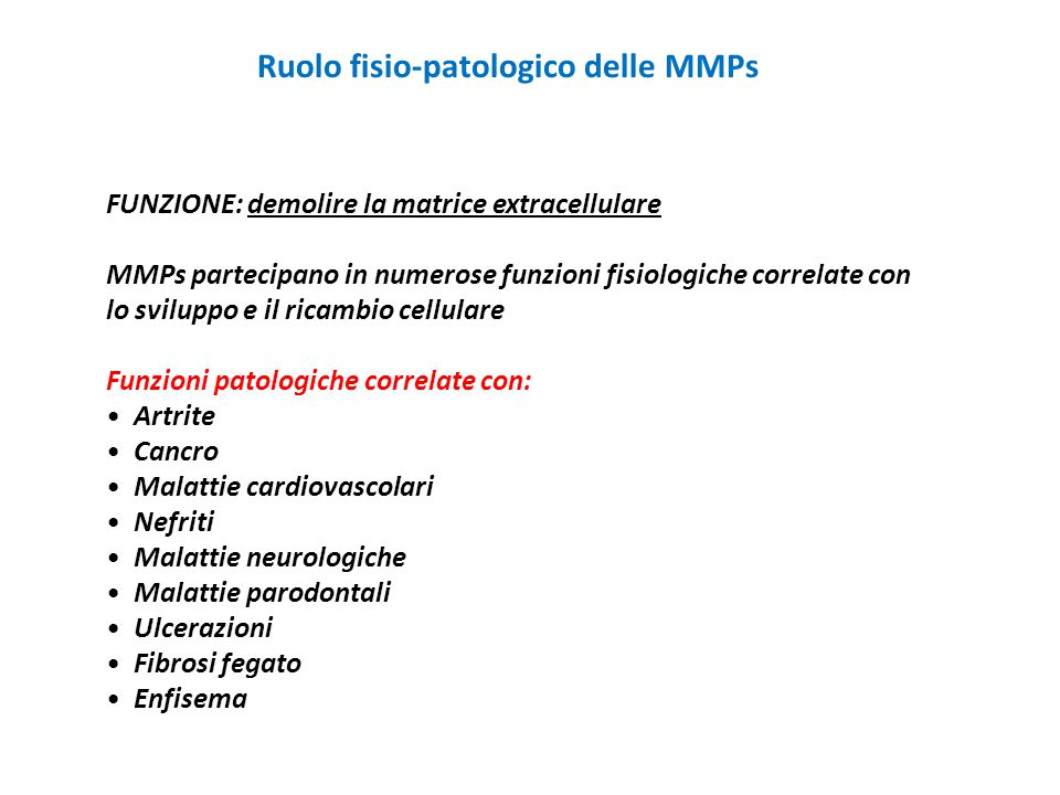 Ruolo fisio-patologico delle MMPs